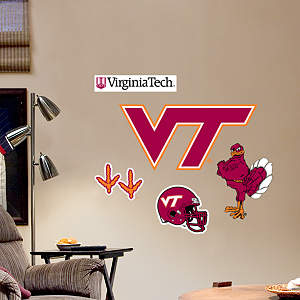 Virginia Tech Hokies - Team Logo Assortment Fathead Wall Decal